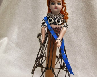 Altered Art Cage Doll