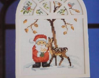 """hanging Santa"" counted cross stitch Kit"
