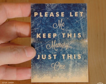 Eternal Sunshine of the Spotless Mind Movie - Type -  ACEO ATC Mini Print Card - Pick your Size