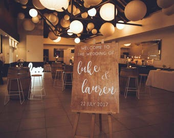 Wedding Welcome Wood Sign / Wedding Wooden Sign / Welcome Sign