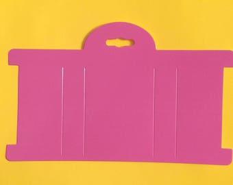 "Pink Headband Paper Display Card 8""x4"" Set of 25"