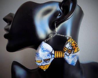 Earring chain wax jaunet/blue bowtie
