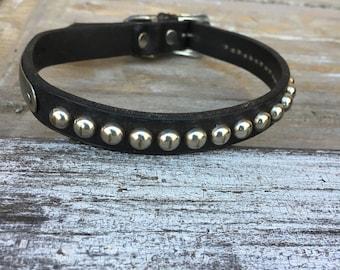 Antique/Vintage Leather Studded Dog Collar
