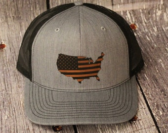 hats, Leather Patch hat, Police Officer, Hat, Cap, Snap back, Leather Patch, America, Merica, USA, Flag, Military, Police, army, Marines,