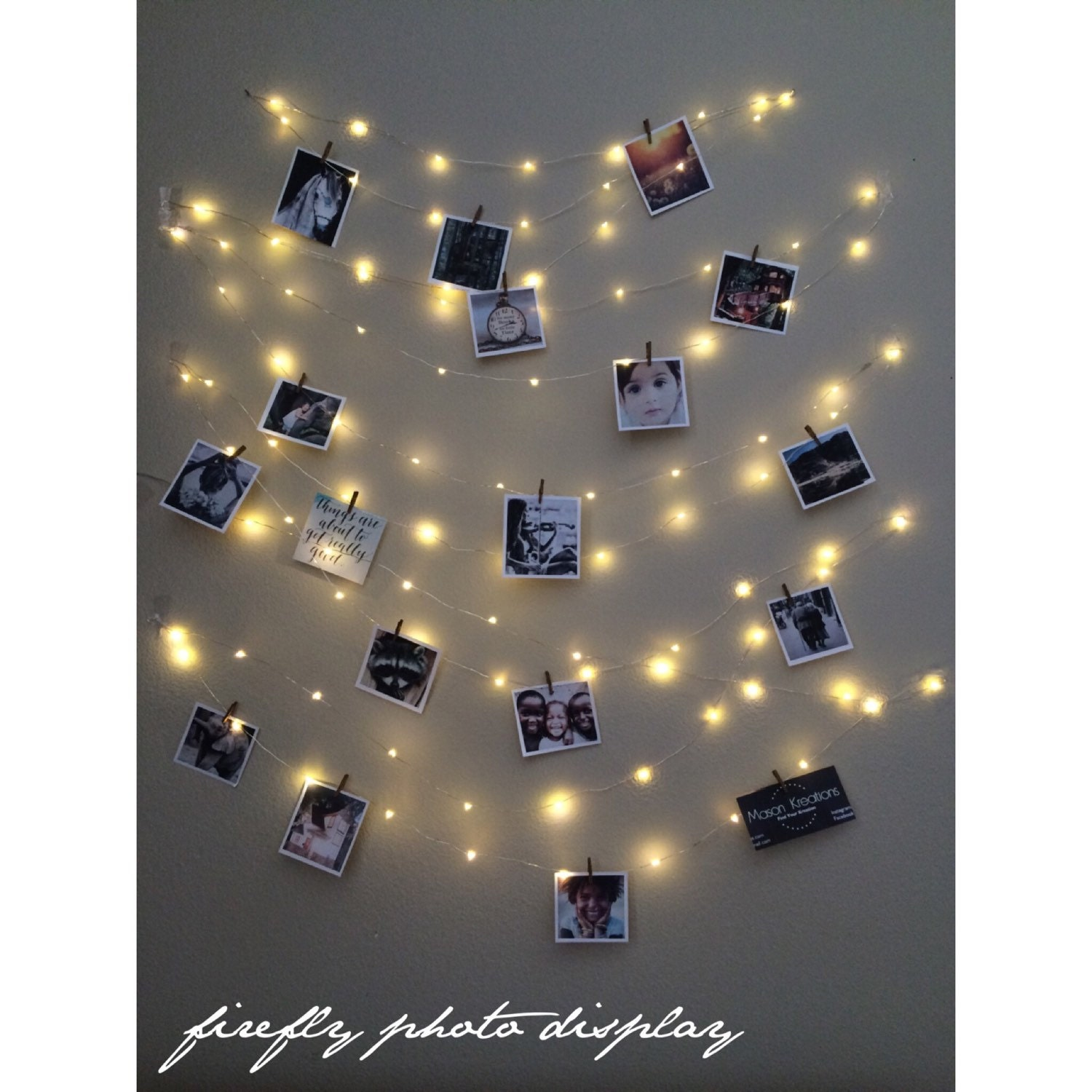 Fairy Lights Photo Display Picture Frame Hanging Lights - Where to buy fairy lights for bedroom
