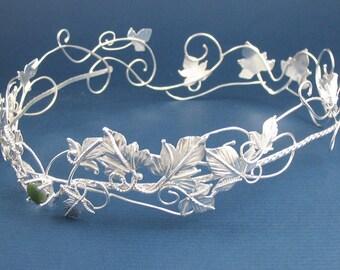 Wedding Circlets, Circlets, Woodland Circlet, Rustic Woodland Crown, Sterling Silver Crown, Elvish Crown, OOAK, Handmade, Sterling Silver