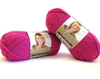 Vanna's Choice Pink Yarn Berrylicious 2 Skeins Lion Brand Craft Supplies