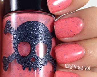 SOLAR Polish-BEACH BOARDWALK From the Summer California Dreaming Collection w/scattered holo and blue flakies by Necessary Evil Polish