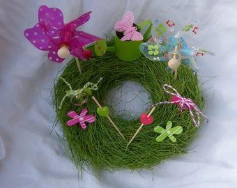"wedding ring cushion Crown ""Small corner of garden"""