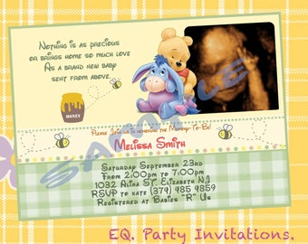 Winnie the pooh baby shower clothespins magnets classic winnie the pooh baby shower invitation printable filmwisefo