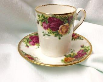 Demitasse Old Country Roses Demitasse Cup and Saucer Royal Albert