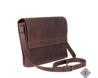 Leather Handbag Messenger bag 053, Genuine leather, Women bag, Small leather bag, Soft leather bag, Brown bags, Handmade bag, Leather tote