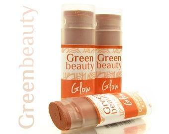 Cream Blush, Glow, blush stick, mineral makeup, mineral blush, cheek stain, cheek blush, lip stick, natural blush, makeup, face blush