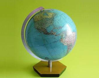 Vintage JRO Globus 1960's Globe Germany  paper globe