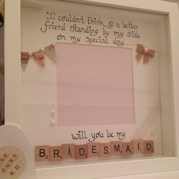 Friends Gift/Bridesmaid Frame/Scrabble Frame/ Birthday