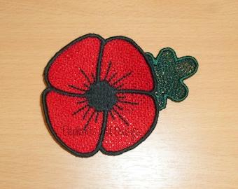 Poppy FSL Embroidery Design file.