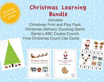 Printable Christmas Learning Bundle