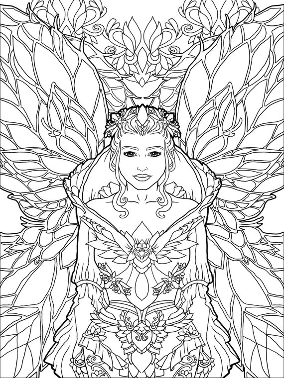 Magical Unicorns and Fairies: Adult Coloring Book Unicorn