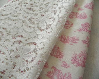cotton lace fabric for miniatures and dolls' house