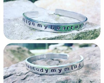 Reduced!! Mumford & Sons handstamped aluminum bracelet