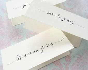 Calligraphy Wedding Place Cards, Name Place Cards - Place Name Cards