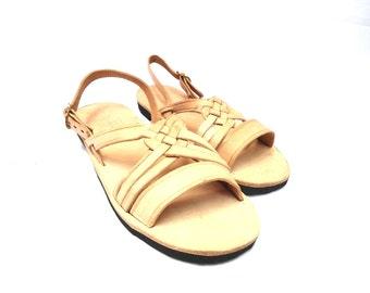 aqua huaraches, vintage mexican huaraches, leather sandals, leather huaraches, boho sandals,