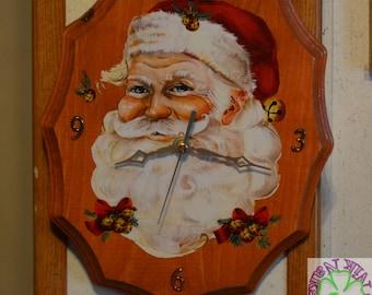 Clocks,Handmade, Holidays, Christmas, Wood, Decorations, Home