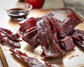 Amazing gluten free 100% organic mouth watering tender made to order beef jerky 1.5 pounds
