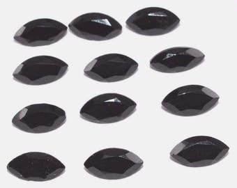 Lot of 15 pcs. AAA natural Black onyx marquise cut faceted loose gemstone with free shipping