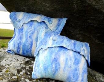 Sea Pillows - nuno felt
