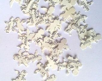 50 confettis anges papier bristol - Ecritures