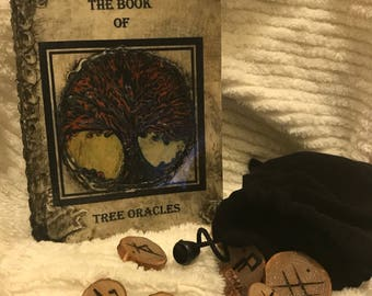 Handmade Tree Oracle, stones and book