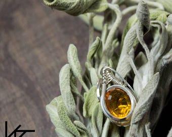 Wire Wrap, Wire Wrapped, Mini Pendant, Heady Pendant, Handmade Jewelry, Silver Pendant