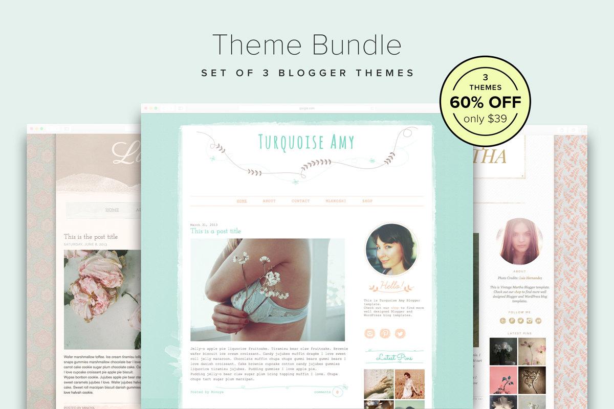 Blog Design Bundle 60% OFF Set of 3 Lovely Blogger