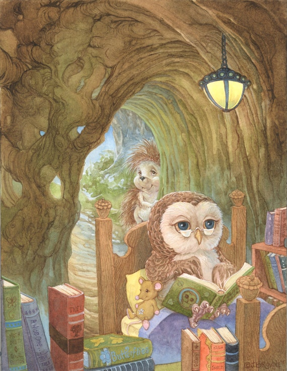 An Owl's Tale 8.5x11 Signed Print