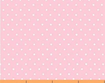 Windham Basic Pastels - Small Dot in Light Pink / White - Pastel Basics Cotton Quilt Fabric Dots - Windham Fabrics - 29400-12 (W4172)