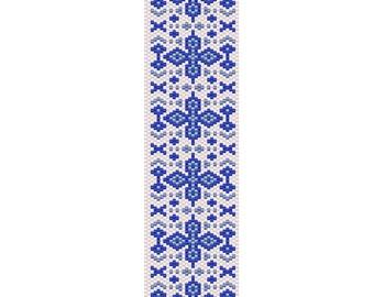 Blueberry Peyote Cuff Bracelet Pattern