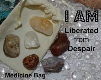 Liberated Crystal Medicine Bag I AM Liberated / Depression / Despair