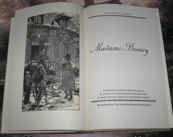1950 Madame Bovary Hardcover Book