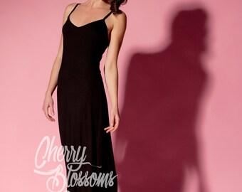 Black maxi dress/ casual dress/ Maxi Dress/ Long dress/ Spring dress/ Summer Dress/ Casual dress/ Day dress/ Plus size dress/ Sun dress