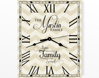 "Personalized Chevron Clock 12""x15"" or 16""x20"" by MRC Wood Products"