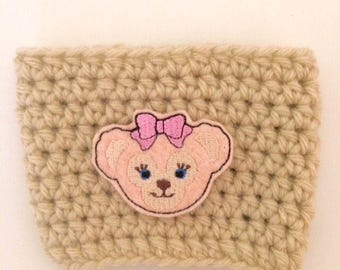 Mouse Ear Bear Duffy Shellie May Coffee Sleeve Drink Crochet Cozy Cozies