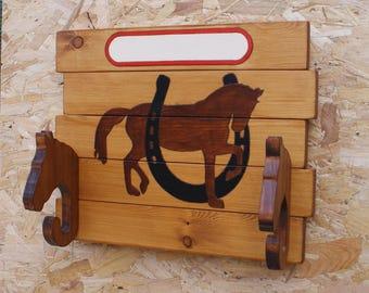 Handmade wooden 'HORSE' tack room_stable_hanger_nameplate