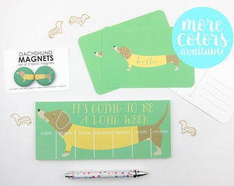 Dachshund Gift Set | Notepad | Magnets | Postcards | Dachshund | Dog Lover | Gift for Dog Lover | Cute Gift Ideas | Stationery Set