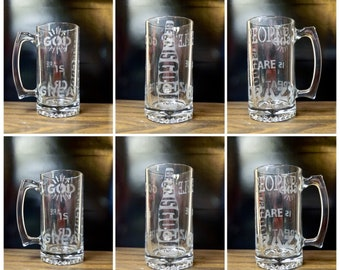God Is Great Beer Is Good People Are Crazy Beer Mug Beer Stein Beer Glass Country Music Billy Currington Gift For Him Gift For Her Birthday