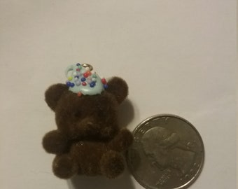 chocolate fuzzy bear charm