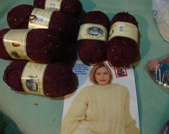 yarn wool ease - burgundy sprinkles