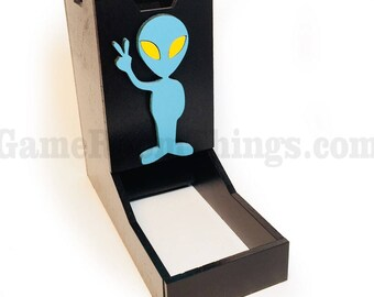 Space Themed Dice Tower, Dice Tower, Wood Dice Tower, Alien Dice Tower, Alien, Dice