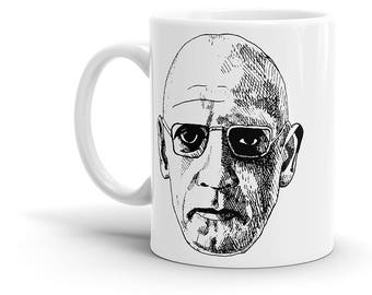Michel Foucault Coffee Mug - Philosopher, Philosophy, Sartre, Camus, Derrida, Deleuze, Cool Gift