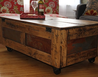 Handmade Metal Crate Etsy - Shipping crate coffee table